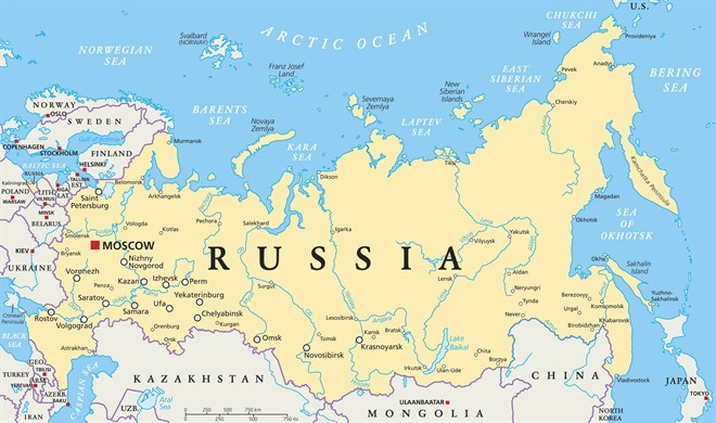 MAP Of Russia _i Stock -491708610 EDIT